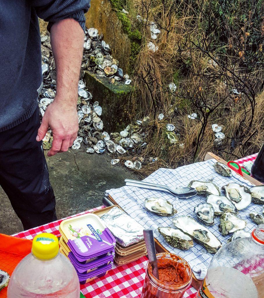 Fanø østers næsten klar til grillen; Fanø østers indlæg