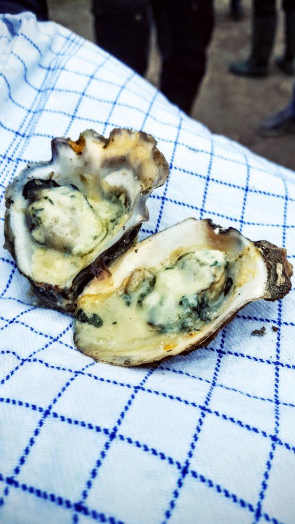 Østers med gorgonzola; Fanø østers indlæg