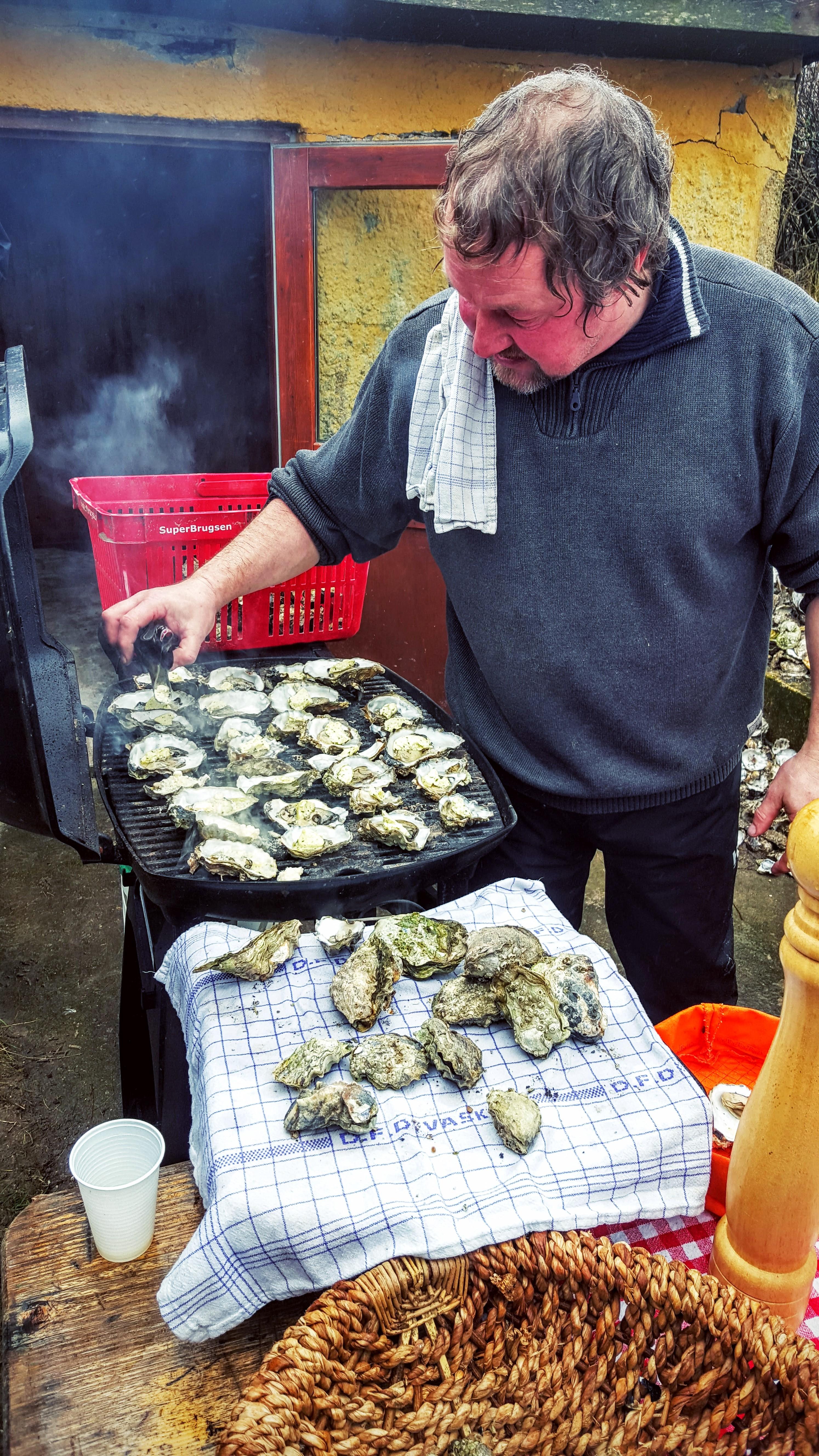Fanø østers på grillen