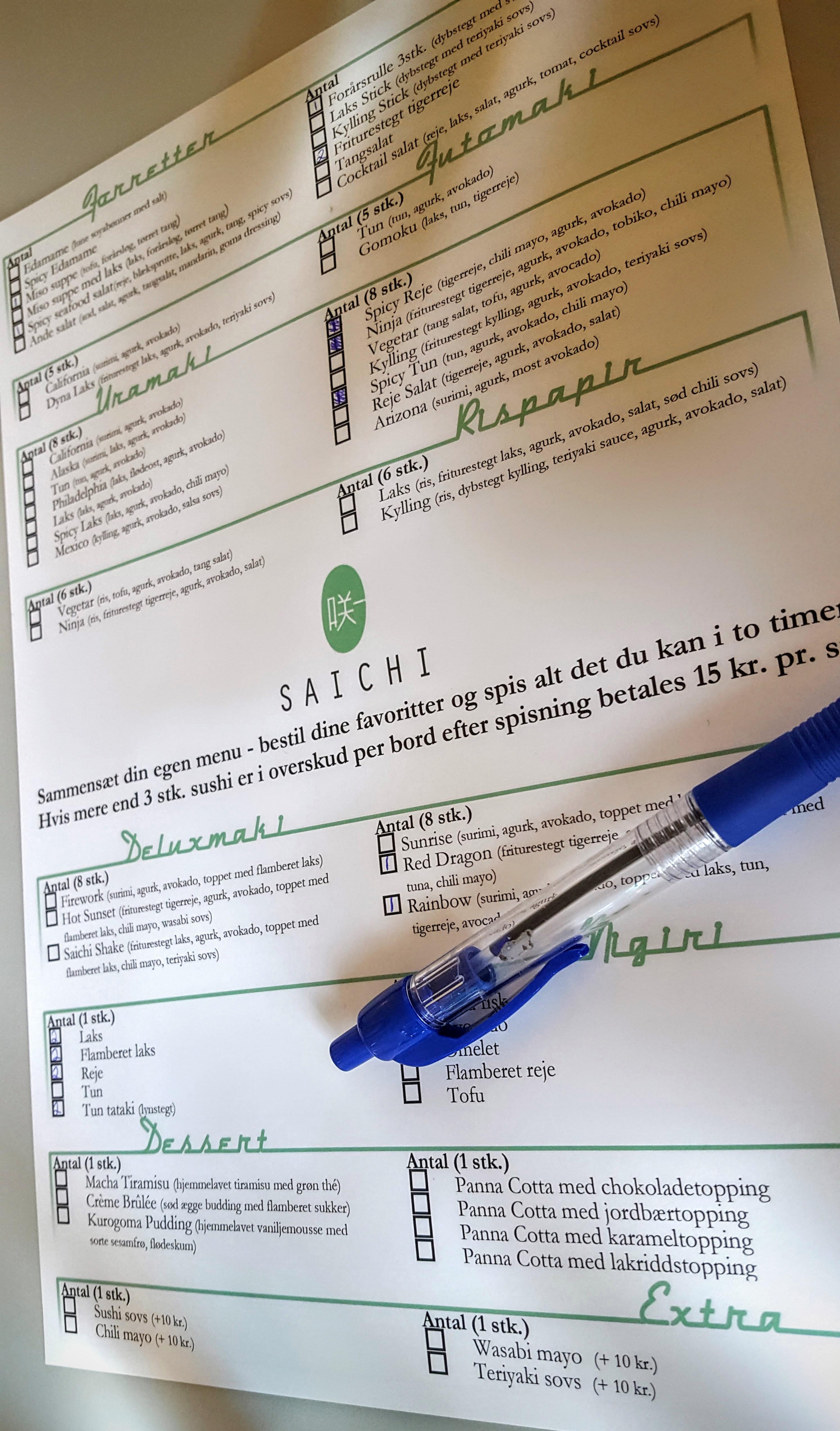 Saichi Sushi bestilling